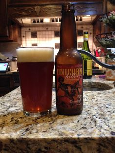 Unicorn Killer by Greenbush. Another beer via a trade on ratebeer. This in my opinion is a great pumpkin beer. It has all the spices along with the normal pumpkin. I love small breweries seasonal beers and this did not disappoint. If you get the chance, try this beer
