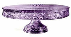 There is something about a purple cake stand which makes it look oppulent and chic. Take a look at this selection from crystal to cardboard to see just how good they look. Vintage Dishes, Vintage Glassware, Kitchenaid, Cake Pedestal, Vintage Cake Stands, Cake Carrier, Purple Cakes, Purple Kitchen, Dessert Aux Fruits