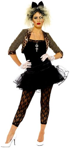 Adult 80s Wild Child Costume. Pop Star Fancy Dress1980s ... c7fe0f0e3