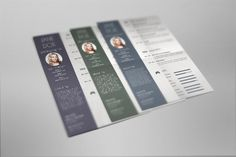 Check out Resume Set in 3 color variations by PremiumCoding on Creative Market