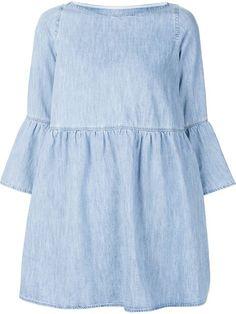 Mm6 Maison Margiela bell-sleeve denim dress