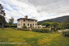 Elegant property with beautiful villa from the century 10 minutes' drive from Lucca, Tuscany. This property includes separate farm building and tensile structure. High quality throughout. Tensile Structures, Dream Properties, Beautiful Villas, Spacious Living Room, Main Entrance, Al Fresco Dining, Lucca, Bed And Breakfast, Tuscany