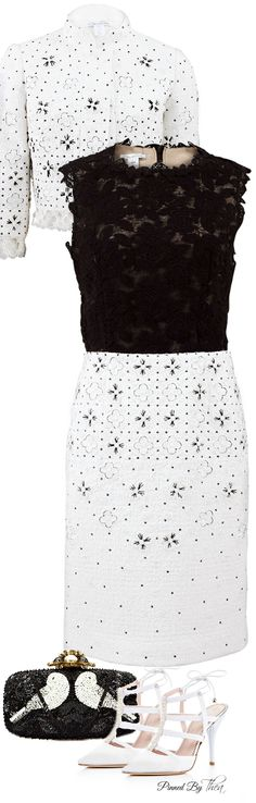 Oscar de la Renta ~ Dress, Jacket, Shoes & Bag   House of Beccaria~