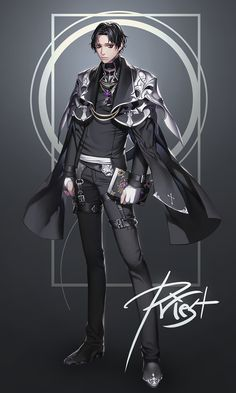 David Loals aka The Priest Character Outfits, Game Character, Character Concept, Concept Art, Fantasy Characters, Anime Characters, Hyung Tae Kim, Modelos Fashion, Drawing Clothes
