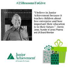 Reason #18: #JA emphasizes the importance of #education! Visit www.fundJA.org/ to support JA today!  #25ReasonsToGive