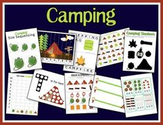 It's Camping Time! Camping Activity Pack from A Teaching Mommy It's Camping Time! Camping Activity P Camping Games, Camping Activities, Summer Activities, Camping Ideas, Preschool Camping Theme, Learning Activities, Camping Books, Camping Bbq, Camping Snacks