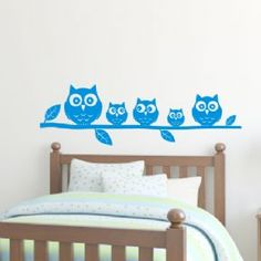Owls on a branch - Kids / Nursery bedroom wall art sticker - Bedroom Wall, Kids Bedroom, Wall Art Pictures, Wall Sticker, Picture Frames, Toddler Bed, Wall Paintings, Inspiration, Furniture