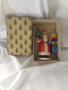 Wendt und Kühn - Wanderer Werke Weihnachtsmannl im Originalkarton 1936 Love the original box❤️