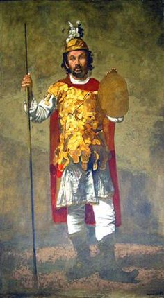 Theofilos dressed up as Alexander the Great - Yiannis Tsaroychis