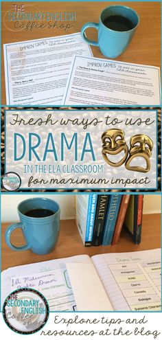 Check out these easy and engaging ways to incorporate more drama into your secondary English classroom. This post outlines tactics great and small and provides some freebies and resources to get you started!
