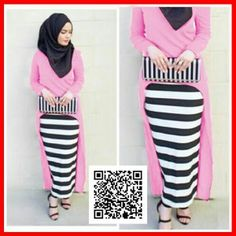baju maxi gita dress modis MGS31 PINK