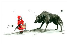 Canvas - Lora Zombie- Red Riding Hood, 70x110cm