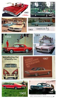 MCM cars of the 1960s!