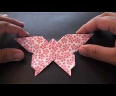 How to make a lovely origami butterfly!