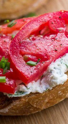 souffle herbed ricotta tart tomato crostini tomato basil crostini ...