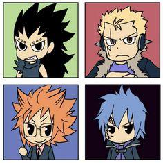 Fairy Tail. Gajeel, Laxus, Loki, Jellal/Mystogan