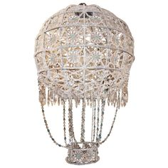 Grand Scale Crystal Balloon Chandelier | From a unique collection of antique and modern chandeliers and pendants  at http://www.1stdibs.com/furniture/lighting/chandeliers-pendant-lights/
