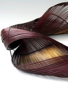 Ueno Masao (1949- ), Swirl  - BambooTokyo.com - Japanese Bamboo Basket -