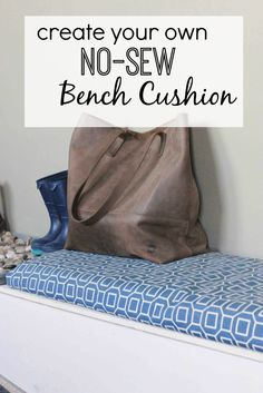 Create a bench cushion with no sewing required!  Find the DIY tutorial at www.thedempsterlogbook.com