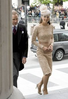 Catherine in beige lace - Love it!