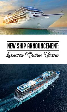 The seas will have a new mermaid in April 2016, thanks to the launch of Sirena by Oceania Cruises. Reservations are now open, click for more details!