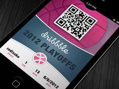 Dribbble - iOS 6 Dribbble Passcard by Tomáš Korenko