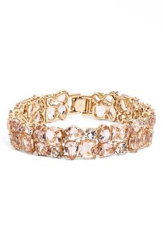 Buy kate spade new york Women's Metallic 'make Me Blush' Crystal Bracelet. Similar products also available. Crystal Bracelets, Crystal Jewelry, Bangle Bracelets, Stone Jewelry, Pink Jewelry, Bridal Jewelry, Kate Spade Bangle, Diy Jewelry Gifts, Queen