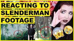 Reacting To Slenderman Footage (Caught On Camera)