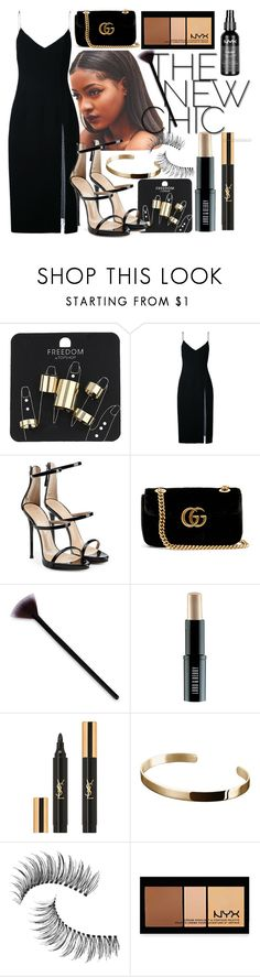 """Untitled #595"" by the-fashion-fantasy ❤ liked on Polyvore featuring Topshop, Christopher Esber, Giuseppe Zanotti, Gucci, Lord & Berry, Yves Saint Laurent, Ekria, Trish McEvoy and NYX"
