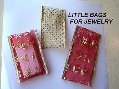 How to Make Quick, Easy Jewelry bags from wire edged ribbon - SEWING OR GLUING - YouTube