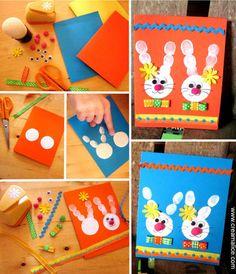 ·°¯`·• Carte de Pâques Empreintes de doigt •·´¯°· Tuto simple et rapide pour réaliser avec des enfants, de jolies cartes de Pâques. www.creamalice.com