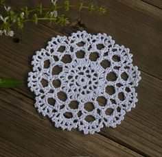 Handmade Crocheted Doilies Table Napkin Pad Round by ColoredHome