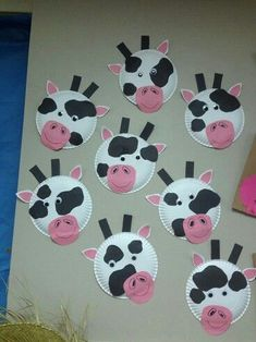 Preschool craft cows