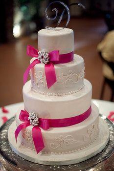 Wedding, Cake, Pink