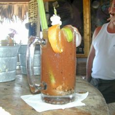 If I could be a Barista for a day, the drinks would be garnished to the hilt:) Bloody Mary Bar, Barista, Beer, Tasty, Mugs, Drinks, Tableware, Places, Root Beer