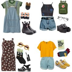 A fashion look from June 2016 by mikaela-obrien featuring Dorothy Perkins, Retrò, Motel, Monki, Chicnova Fashion, HOT SOX, New Balance, Hunter, Windsor Smith,...