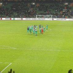 @@werderbremen wird für den #Kampf gefeiert. #svwbsc #werder #bremen #mwontour #svw #Bundesliga #Kultur #fussball #futbol #