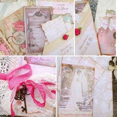 Bird Cage themed Wedding Guest book  Pink by youruniquescrapbook, £105.00