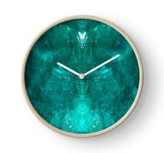 Dioptase Clock by lightningseeeds® for crystalapertures.rocks.