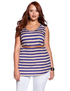 $45 Woven Stripe Tank - eloquii by The Limited
