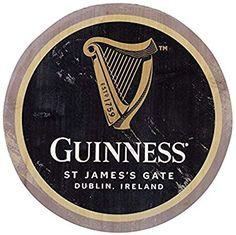 Guinness Harp Wooden Bottle Top Wall Art by Guinness.