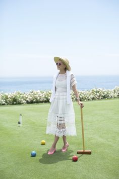 Dress (on sale, also love this one). Shoes: Chanel (similar). Sweater: Jcrew. Sunglasses. Bag. Hat: Nordstrom.