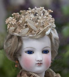 Antique French Crown Garland with Tiny Wax flowers for fashion doll from respectfulbear on Ruby Lane