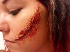 Stage Makeup - Cheek Gash by ~Pouncin on deviantART