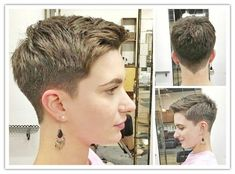 """How to style the Pixie cut? Despite what we think of short cuts , it is possible to play with his hair and to style his Pixie cut as he pleases. For a hairstyle with a """"so chic"""" and pointed… Continue Reading → Short Blonde Pixie, Short Pixie Haircuts, Pixie Hairstyles, Long Pixie, Fashion Hairstyles, Undercut Hairstyles, School Hairstyles, Pixie Cut With Bangs, Longer Pixie Haircut"""