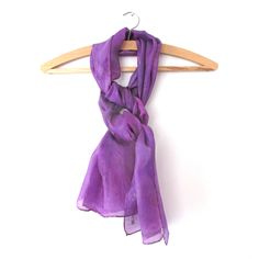 In tones of bright purple, this hand painted unique silk scarf is the perfect addition to any wardrobe to add a flash of colour and a touch of unique style or makes a wonderful gift. Purple Scarves, Silk Scarves, Bright Purple, Deep Purple, Purple Hands, Wearable Art, Feminine, Hand Painted, Touch