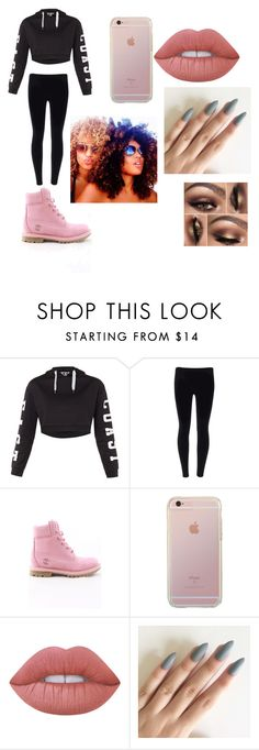 """"" by bae03 on Polyvore featuring Topshop, Timberland and Lime Crime"
