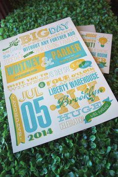 letterpress by Elum Designs ~ ink colors Mustard Seed, Blue Topaz