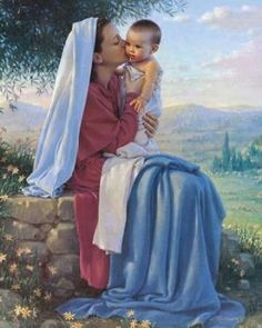 My Spirit Rejoices by Kathy Lawrence, painting of Baby Jesus and his tender and very loving mother Mary . Religious Pictures, Jesus Pictures, Blessed Mother Mary, Blessed Virgin Mary, La Salette, Mama Mary, Queen Of Heaven, Mary And Jesus, Daughters Of The King