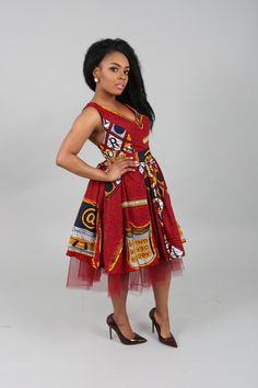 african print dresses The Eliza dress. Elegant African print and tulle above knee length glamorous and guaranteed to turn posher parties,nothing speaks glamour like this dress l African Fashion Ankara, Ghanaian Fashion, African Print Fashion, Africa Fashion, Nigerian Fashion, African Dashiki, African Dresses For Women, African Print Dresses, African Attire